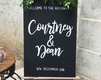 Wedding Welcome Sign - Chalkboard Portrait