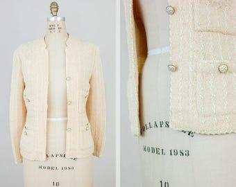 Vintage 80s Sweater / Vintage Clothing / 1980s Sweater / Pink Vintage Sweater / 1980s Clothing / Vintage Cardigan Sweater / 80s Medium