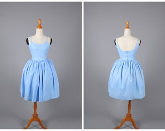 Penelope Dress in Solid Cinderella Blue