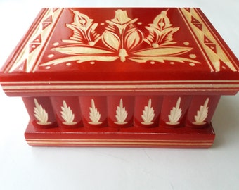 New modern red wooden puzzle box,secret box,magic box,jewelry box,case,delicate carved storage box,carved box,wooden toy for kids