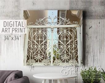 "34""x34"" Digital Art Print | Architectural Photography"