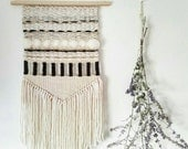 "Woven Wall Hanging, Handmade Tapestry, Mid Century Modern, Boho Decor, Macrame Wall Hanging, ""Little Gem"""