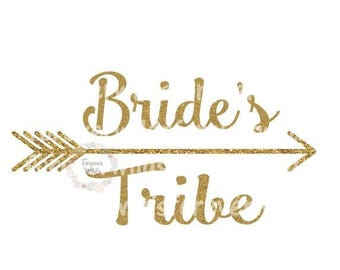 Bride's Tribe SVG - Bridal SVG - Brides tribe iron on - Double wedding svg - Cut File - Clipart - Svg - Cricut - Silhouette