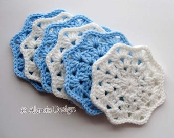 Crochet Coaster Pattern 190 Lace Octagon Coaster DIY Crochet Patterns Crochet Flower Motif Coaster Pattern Home Decor Christmas Gift Party