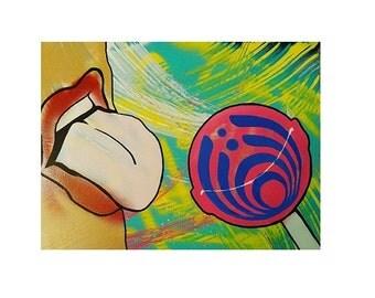 16x20 Bass Nectar Painting by ChrisEcto / Chris Ecto - Wall Art, Canvas Art, Music Art, DJ Painting, Pop Art, Abstract Art,