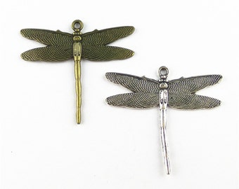 5pcs 43x46mm Dragonfly Charm Pendant Findings A