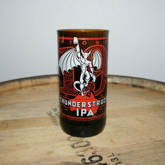 UPcycled Pint Glass - Stone Brewing Co - 19th Anniversary Thunderstruck IPA