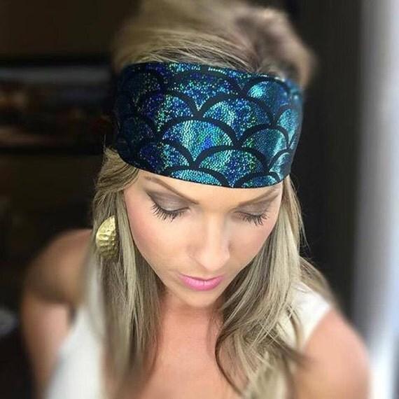 Zippity Quick Mermaid ~ #061 Mermaid Headband, Sparkle Headband, Hippie Runner, Hippie Headbands, Glitter Headbands, Workout Gear, Fitness