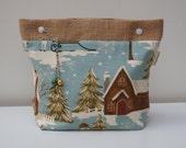 Snow Day Medium Project Pouch