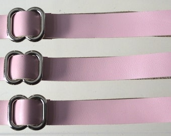 Adjustable Hogtie Straps - Pink/Nickel