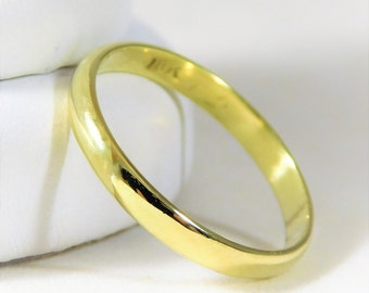 Classic 2.5mm 18k Gold Wedding Band