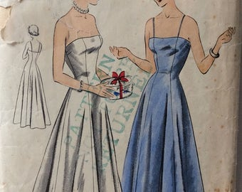Vogue 6663 misses evening slip size 14 bust 32 vintage 1950's sewing pattern