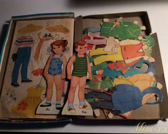 1963 - Games toy vintage paper doll #miss xx
