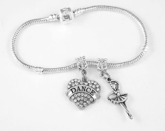 Dance Ballerina Bracelet Set Dance jewelry Ballerina Dancing Jewelry Jazz Bracelet European style bracelet Best Jewelry Gift