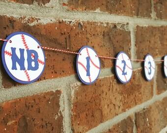 Baseball Photo Banner... Monthly Banner... First Birthday... Baby Boy