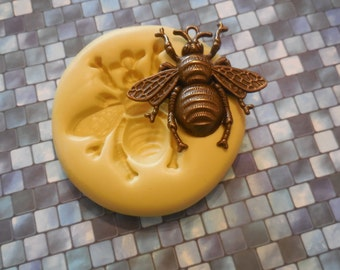 Large Bumble Bee Mold, Silicone mold, craft mold, porcelain, resin, jewelry, food , clay's mold, flexible, Charms, Gold and Silver Materials