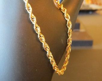 """Gold Bracelet 14k Rope Chain  6 1/2"""""""