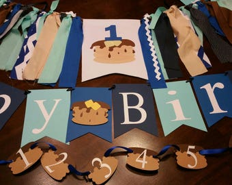 Custom Pancake Party, Pancake Banner, Pancake Pajamas, Pancakes PJs Party, Pancake Decorations, Pancake First Birthday, Party Ideas, 2nd, 3