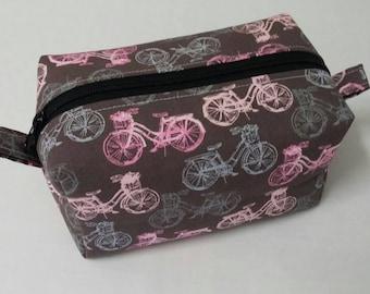 Bicycle make up bag, cosmetic bag, boxy bag, boxy make up bag, Travel bag, gifts for her, toiletry bag