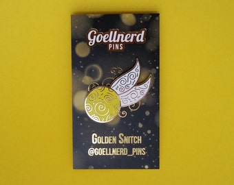 Golden Snitch Hard Enamel Pin Harry Potter Pin Quidditch Pin Valentines Gift