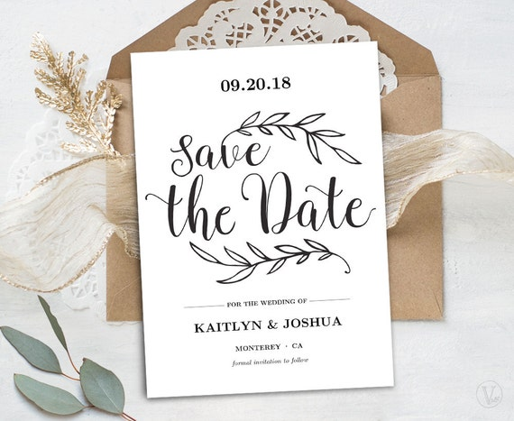 Clean image intended for save the date printable