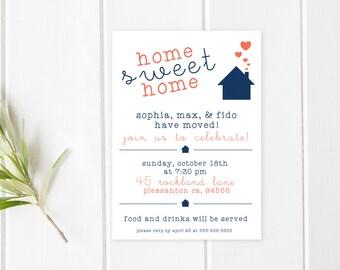 Housewarming Party Invitation, Housewarming Invitation, Printable Invitation, Home Sweet Home, Our New Home, Modern Housewarming Invite [69]