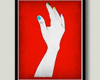 Dexter Wall Art, Dexter Morgan, Dexter Poster, Dexter Art, TV Show Art, Dark Passenger, Printable, Instant Download