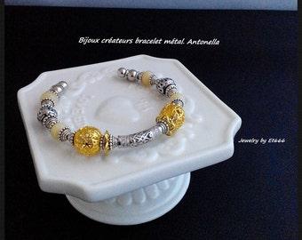 Jewelry designers metal bracelet. Antonella