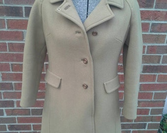 Charming vintage brown cropped sleeve XS winter coat by Higbee's