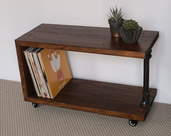 Panorama Reclaimed Wood Record Player Stand | TV Cabinet | Vinyl Storage |  Vinyl Console |
