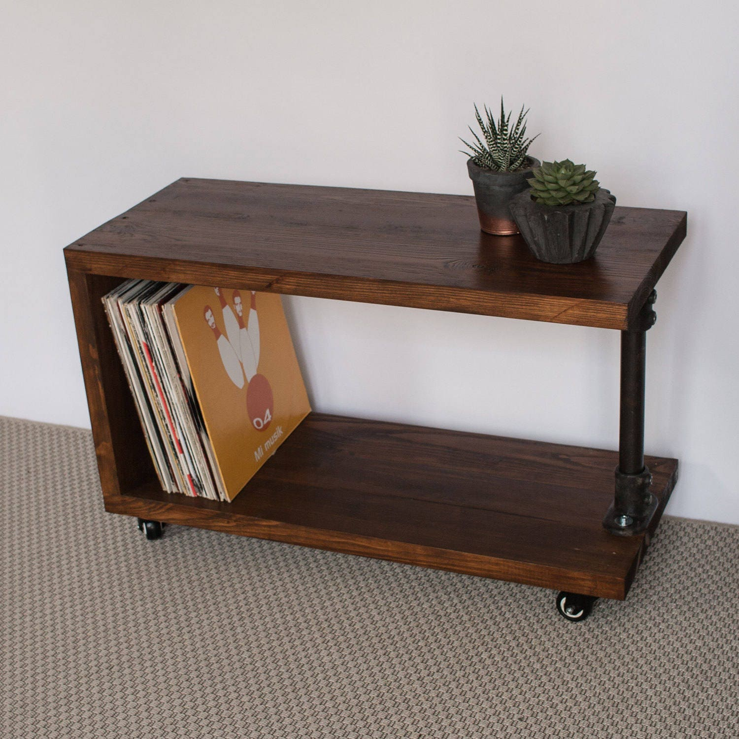 Panorama reclaimed wood record player stand tv cabinet zoom geotapseo Images