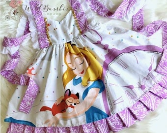 Alice in Wonderland Dress, Disney vacation dress, Disney world dress, princess dress, alice dress, birthday dress, baby dress, toddler dress