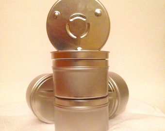 Metal Candle Tins, 8 oz, Empty Containers, Tins, Small Containers, Round Metal Tins, Craft Supplies, Storage, Beading