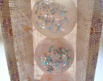Mini jute bag of 3 bath bomb, Uk bath bombs, Heaven Scented bath bombs, Uk gift set, bath fizzers, bath bomb gift set,