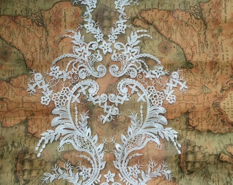 1pc Lace Super Luxury Lace Appliques Ivory Exquisite For Wedding Dress Grown Bridal Veil