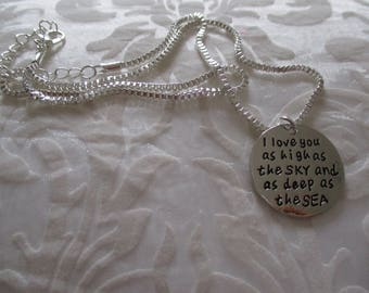 Very beautiful declaration of love necklace