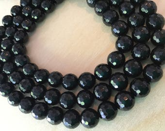 Black Agate Beads 10mm