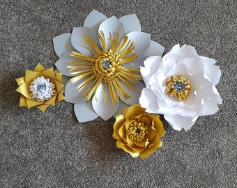 Large paper flower backdrop, Giant paper flowers, Giant paper flower backdrop, Wedding center piece, Large paper flowers.
