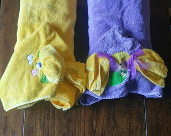 Under the sea themed hooded towels