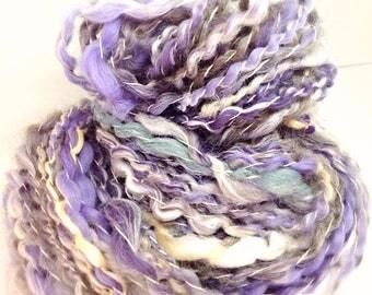 Handspun yarn - hand spun purple yarn - Lavender - worsted knitting yarn