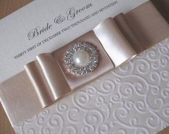 Handcrafted Elegant Wedding Invitation - With / Without Box