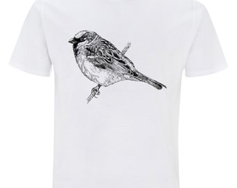 Sparrow - mens white t-shirt EarthPositive