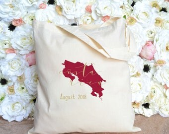 Personalized Costa Rica - Destination Wedding Welcome Bag