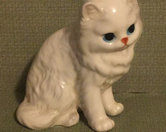 Cat Figurine; Kitty Cat Collectible; Porcelain mini Cat Figurine; Cat Lovers Collectible