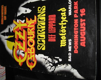 big size monsters of rock 1986 tour programme guide  book with poster