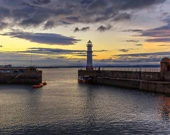 Newhaven at Sunset, Edinburgh
