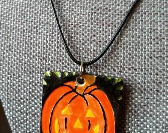 Halloween Jack-O-Lantern Pendant