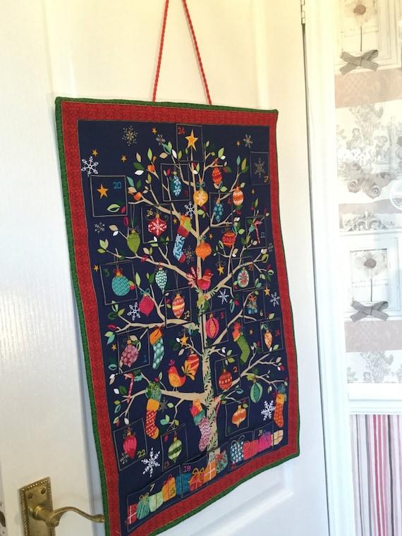 Diy Reusable Advent Calendar : Reusable fabric advent calendar christmas tree