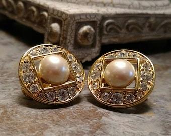 Vintage Monet Clip On Earrings