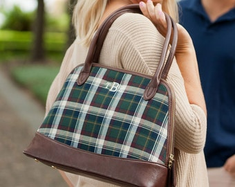 Monogram Purse Avery Plaid Monogrammed Purse Personalized Purse Monogrammed gifts for her Chandler Striped Large Purse Bridesmaid Gifts